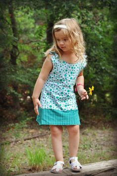 Allison Reversible Girls Dress Pdf Sewing Pattern