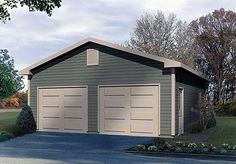 Prefab 1 2 or 3 car garage with attic modular two story for Garage building cost estimator