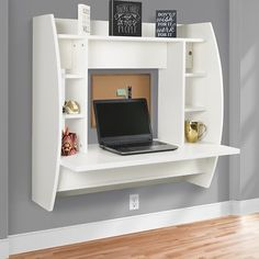 Walmart offers Best Choice Products Wall Mount Floating Computer Desk for $104.99, Free shipping, found by pnslakshmi_12 on 7/6/18.
