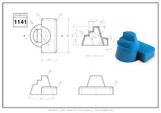 3D CAD EXERCISES 1141 - STUDYCADCAM Cad Drawing, Drawing Practice, Autocad, Exercises, 3d, Drawings, Exercise Routines, Drawing Exercises, Excercise