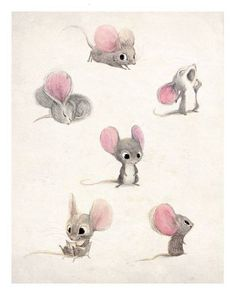 Art Inspirations - Cute little mouse cartoon
