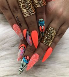 Coffin Nails – Beauty and Fashion Tips and Ideas Glam Nails, Hot Nails, Bling Nails, Stiletto Nails, Nail Manicure, Hair And Nails, Coffin Nails, Fabulous Nails, Gorgeous Nails