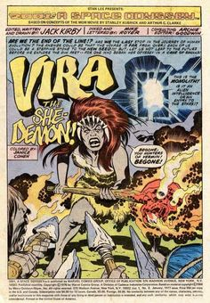 2001: A Space Odyssey # 2, Vira the She-Demon! (January, 1977). Jack Kirby.