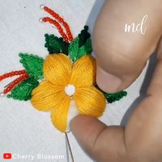 hand embroidery stitches tutorial step by step Hand Embroidery Videos, Hand Embroidery Flowers, Embroidery Stitches Tutorial, Flower Embroidery Designs, Creative Embroidery, Learn Embroidery, Hand Embroidery Patterns, Embroidery Kits, Silk Ribbon Embroidery
