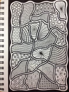 "Zentangle. I love how the ""string"" becomes part of this one."