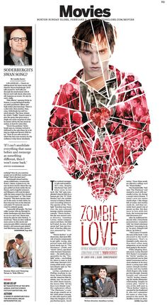 "Ryan Huddle, Society for News Design award of excellence for feature page design for ""Zombie Love"" in Sunday Arts"