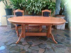 Beautiful Yellowwood Table And 2 Chairs
