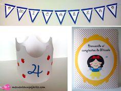 Kit de cumpleaños de Blanca Nieves