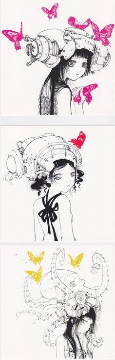 [NO LONGER AVAILABLE] Three 5x5 postcard prints by Camilla D'Errico