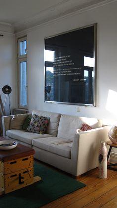 Rillentafel von Ninoschka - have no idea what this says or means. But I love the idea :) Interior Design Inspiration, Interior Architecture, Living Room Decor, Sweet Home, Wall Decor, House Design, Furniture, Home Decor, Vintage Sport