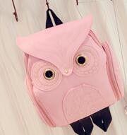 Fashion Women Backpack 2017 Newest Stylish Cool Black PU Leather Owl Backpack Female Hot Sale Women shoulder bag school bags