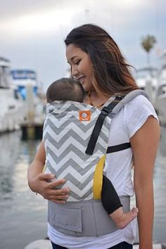 Tula Ergonomic Toddler Carrier - Gray Zig Zag- Designed to wear children from about 18 months old (and/or about 25 pounds) to year old.Benefits of Tula Carriers:• Front and back carry • From 25 lbs - 50 lbs• Easy to use. Bebe Love, Ergonomic Baby Carrier, Baby Wish List, Baby Wraps, Baby Kind, Cloth Diapers, Baby Gear, Baby Wearing, Future Baby