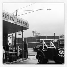 Vinsetta Garage (By Erica Volltrauer) Over The Years, Monster Trucks, Garage, Vehicles, Drive Way, Garages, Vehicle, Carriage House, Tools