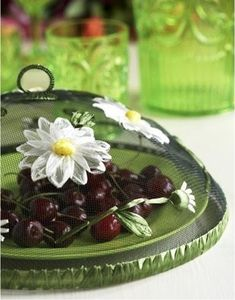 Gisela Graham Daisy Flower Mesh Food Cover - - A great range of Garden & Outdoors gifts and homewares from The Contemporary Home Online Shop Diy Outdoor Kitchen, Outdoor Food, Kitchen Craft, Outdoor Entertaining, Tapas, Diy Wall Decor For Bedroom, Food And Thought, Recycling, Food Tent