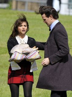 Matt, Jenna, and a turkey...filming the Christmas special... I miss Matt already