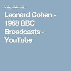 Leonard Cohen - 1968 BBC Broadcasts - YouTube