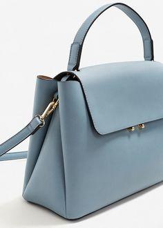Flap tote bag | MANGO