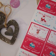 etiquetas diseños navideños personalizadas