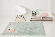 Washable rug Hippy Mint/Alfombra lavable Hippy Mint