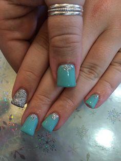 Mint Green nails # winter nail designs