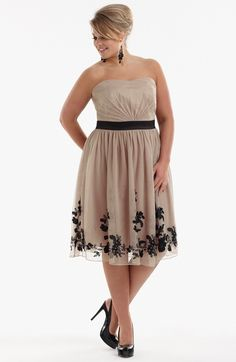 A plus size cocktail dress is no different from the normal size one. It's just that it has been cut and designed in a manner that it proportionally fits to the woman who has a fuller body structure.