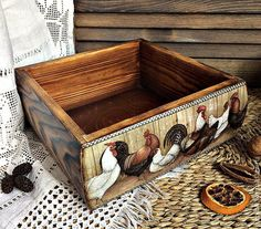 Купить Большой короб для кухни - комбинированный, короб, ящик для кухни, Пасха, подарок на Пасху