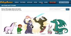 College Humor's error page is kinda a bummer: | The 28 Best Error Pages On The Internet