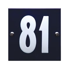 HE-53 blauw wit emaille huisnummer 'Tiel' Symbols, Letters, Enamel, Letter, Lettering, Glyphs, Calligraphy, Icons