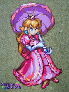 Princess Peach in Hama beads by SerenaAureth (Flikr)
