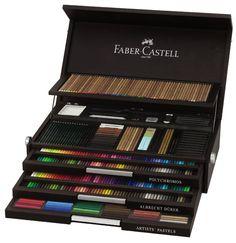 Faber-Castell 110050 - Holzkoffer Art & Graphic, Komplettaustattung Trockenkunstsortiment, Limited Edition: Amazon.de: Bürobedarf & Schreibw...
