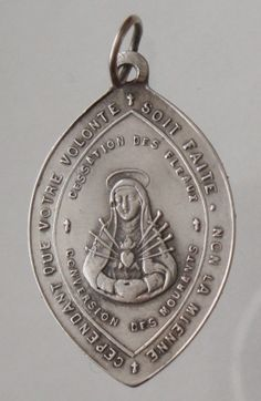 Our Lady of the Seven Sorrows Vintage Silver by CherishedSaints, $64.00