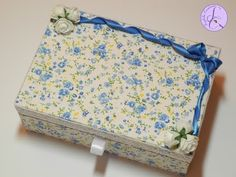 Tutorial: Scatola di legno in tessuto (wooden box with fabric) [eng-sub]