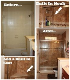 Bathroom Remodel from tub to shower!  Turned out amazing!