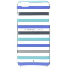 Kate Spade New York Read Between the Lines iPhone Case for iPhone 6 Plus (Blue Multi) Cell Phone Case featuring polyvore, women's fashion, accessories, tech accessories, iphone sleeve case, kate spade iphone case, kate spade, iphone cover case and iphone cases