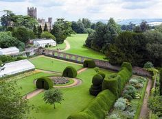 The Monks Garden at Highclere Castle, Hampshire, South East England, UK
