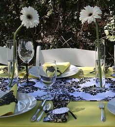 """Photo 1 of 8: Elegant Ranch Bridal Shower / Bridal/Wedding Shower """" Black & White Shower In the Wine Country""""   Catch My Party"""