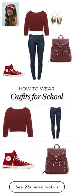 """Piper- School"" by ella2929 on Polyvore featuring Rebecca Minkoff, Frame Denim, Bobbi Brown Cosmetics, Converse and Panacea"