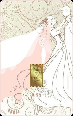 $32.00 - 0.5 GRAM WEDDING DAY 24K 999.9 FINE GOLD BULLION GIFT BAR & COA - FREE SHIPPING @GoldAngels