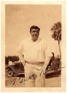 Babe Ruth   Arrives For His Final Yankees Camp  ~  March 1934 ~  St. Petersburg, Florida