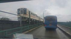 Yangon-Thanlyin Bridge & RBE ရန္ကုန္ႏွင့္ တာဝတကၠသိုလ္ ေျပးဆြဲသည့္ RBE ရထား