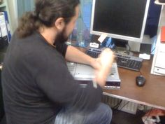 Sotiris was kept busy last night with various hardware and software problems, as well as fixing a faulty DVD player!