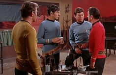 Kirk and crew each armed with a Colt SAA .45
