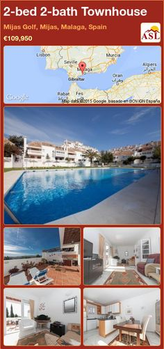 2-bed 2-bath Townhouse in Mijas Golf, Mijas, Malaga, Spain ►€109,950 #PropertyForSaleInSpain