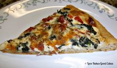 Tomato Spinach Alfredo Pizza | Love Bakes Good Cakes