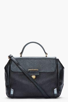 MARC BY MARC JACOBS Black textured leather shoulder bag