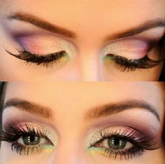this is how you experiment with colors NEVER ALL OVER LID!!