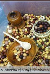 Wooden Bead Sensory Bin