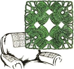 Irish Shamrock Motif - free crochet pattern