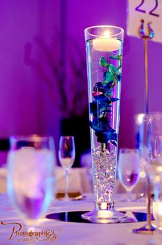 Floating Candle Centerpieces - westin dulles Photo Credit: Photographic Studios