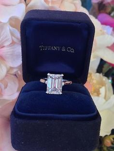 The perfect ring: Tiffany & Co 3.86 ct GIA VS2-G Emerald Cut Platinum Diamond Engagement Ring